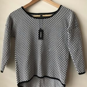 EXPRESS Black and White Blouse